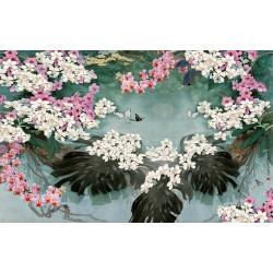 Papier peint asiatique - Les orchidées sauvages format panoramique