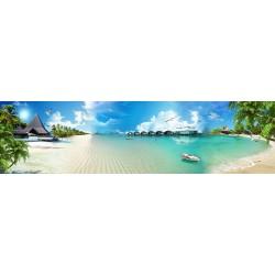 Décoration murale grande panoramique paysage romantique - A la plage