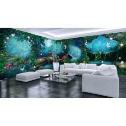 Décoration murale grande panoramique paysage romantique - La nuit dans la forêt