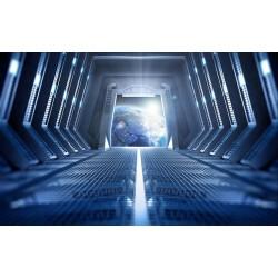Poster géant XXL trompe l'œil 3D - Dans le vaisseau spatial - Extension d'espace