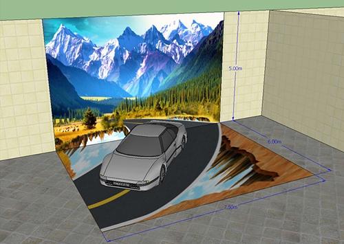 décoration murale 3D sur mesure, revêtement sol 3D personnalisé, papier peint 3D personnalisé, papier peint 3D paysage, revêtement sol 3D personnalisé
