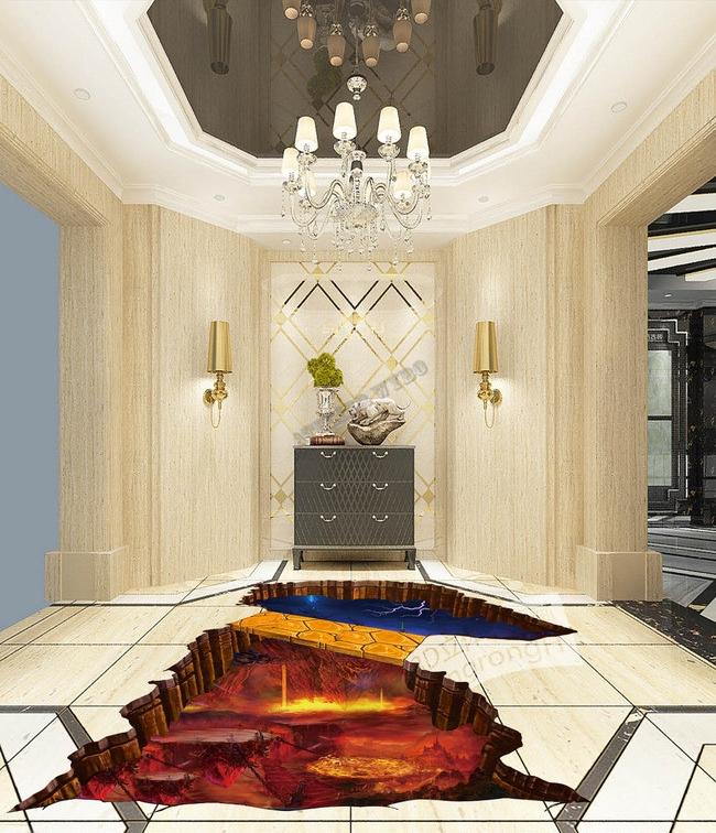 décoration d'intérieur, revêtement sol 3D personnalisé, revêtement sol personnalisé, revêtement sol