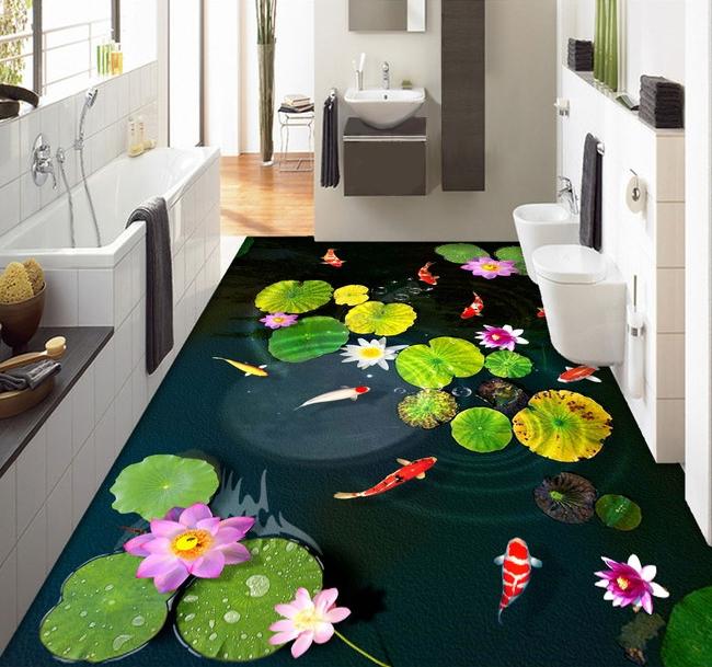 Exclusivit s papier peint 3d personnalis tapisserie for Salle de bain sol 3d
