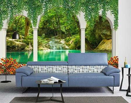 Chute Du0027eau,lac Tropical,paysage Zen,papier Peint Paysage Nature,