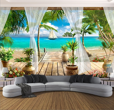beautiful poster mural trompe l oeil zen wall murals you ll love with poster mural zen. Black Bedroom Furniture Sets. Home Design Ideas