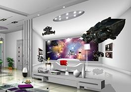 Papier peint 3D, vaisseau spacial, home cinéma, papier peint sur mesure, papier peint personnalisé,tapisserie numérique 3D,poster 3D,poster géant mural, science fiction,poster espace,papier peint espace,tapisserie photo,papier peint photo,papier peint numérique