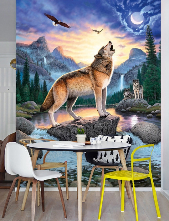 gallery of luopchute loupsticker gant with poster mural montagne. Black Bedroom Furniture Sets. Home Design Ideas