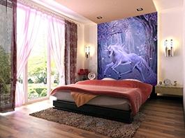 licorne, cheval, tapisserie numérique cheval, papier peint intissé, papier peint personnalisé, papier peint, wallpaper, poster mural, poster cheval,poster géant