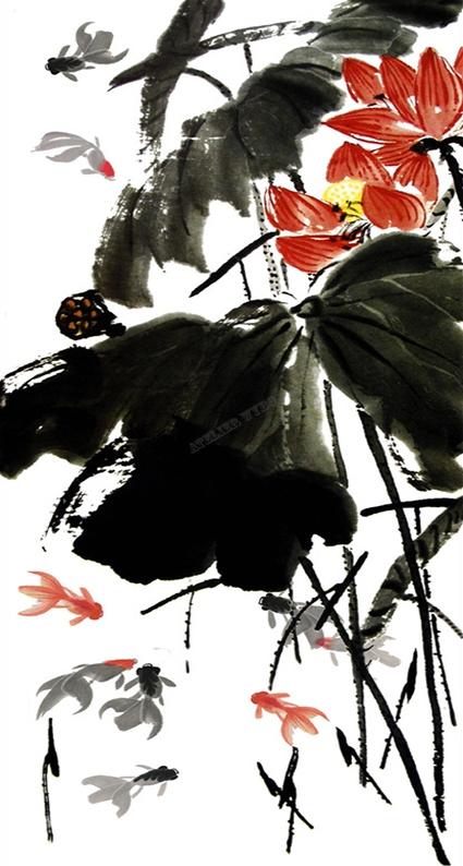 papier peint d'artiste,peinture lotus,peinture à l'encre,lotus,papier peint chinois,lavis,papier peint japonais,papier peint asiatique,papier peint zen,tapisserie lotus,tapisserie asiatique,tapisserie chinois,tapisserie japonais,tapisserie murale,poster lotus,poster zen,tapisserie zen,poster chinois,poster japonais,poster asiatique,poster lotus,