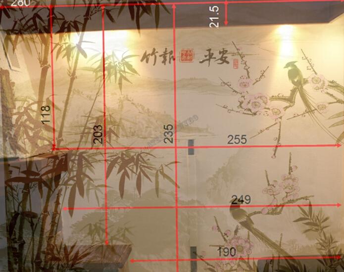 simulation 3D décoration, décoration murale, papier peint sur mesure, papier peint chinois, papier peint asiatique, tapisserie asiatique, tapisserie bambou, tapisserie paysage, papier peint bambou, papier peint paysage