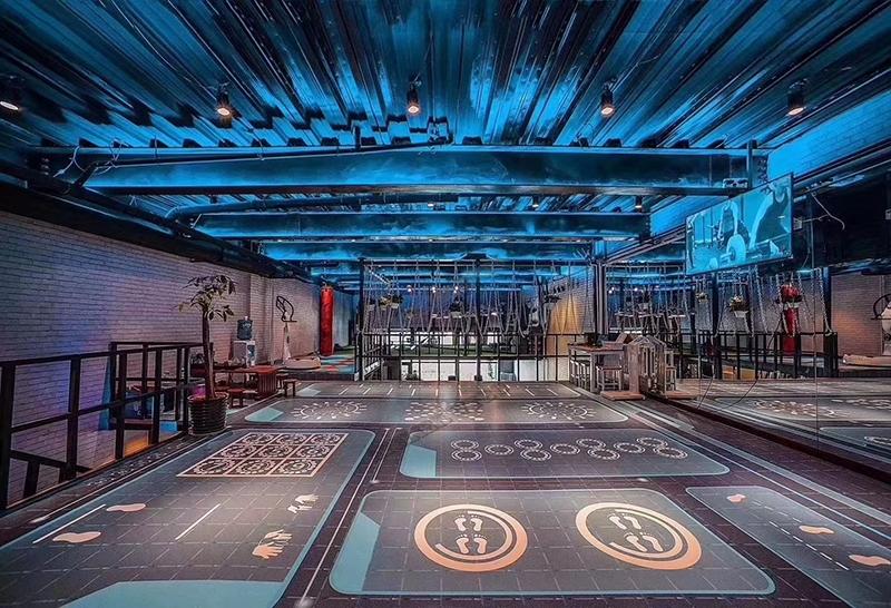 revêtement de sol sportif imprimé personnalisé salle de gymnastique,linoleum flooring photo personnelle imprimé salle de musculation,tapis sol sportif pvc ignifugé dessin imprimé salle de fitness,