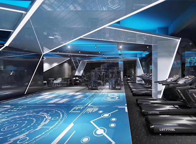 rénovation revêtement de sol salle de gymnastique,sol 3d décoratif dessin imprimé salle de musculation,lino pvc bleu ciel salle de sport,rouleau revêtement de sol sportif photo imprimée,revêtement de sol 3d bleu salle de fitness,sol trompe l'oeil 3d sur mesure photo personnelle