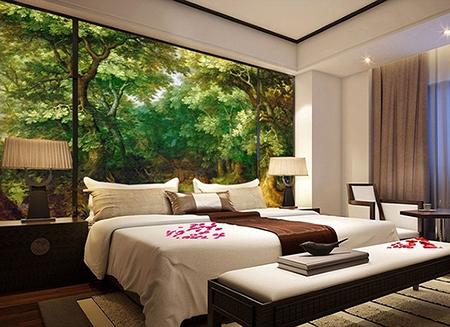 Papier peint arbre chambre amazing papier peint chambre petite fille gt dcoration gt murs gt - Moisissure tapisserie chambre ...