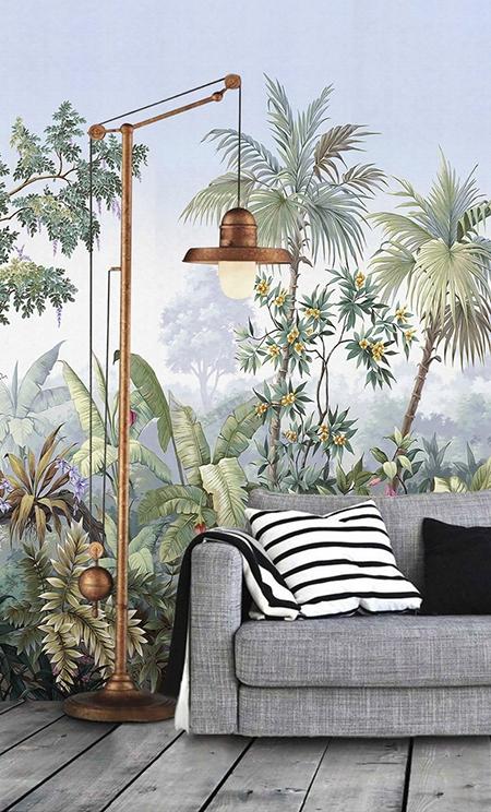 papier peint vinyle intiss personnalis tableau de peinture classique les plantest tropicales. Black Bedroom Furniture Sets. Home Design Ideas
