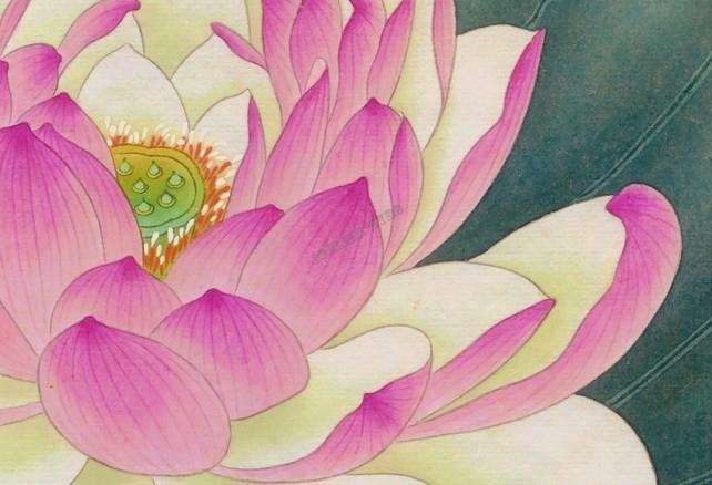 papier peint chinois chinese wallpaper les lotus les. Black Bedroom Furniture Sets. Home Design Ideas