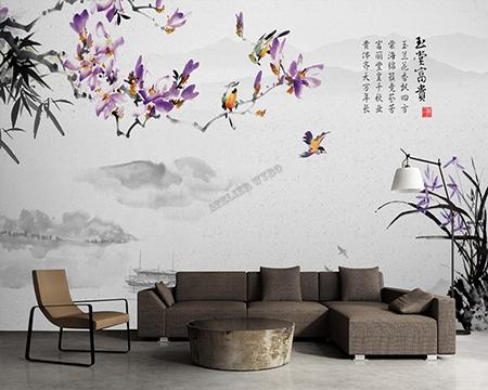 magnolia,magnolia violet,orchidée,bambou,papier peint gris,tapisserie ton gris,poster gris,papier peint magnolia,tapisserie magnolia,sticker magnolia,poster géant magnolia,papier peint chinois,papier peint japonais,papier peint asiatique,tapisserie asiatique,papier peint fond gris,papier peint zen,tapisserie zen,poster xxl zen,décor zen,décor japonais,décor chinois,décoration asiatique