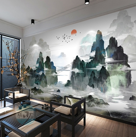 d coration d 39 int rieur style japonais sticker mural xxl. Black Bedroom Furniture Sets. Home Design Ideas