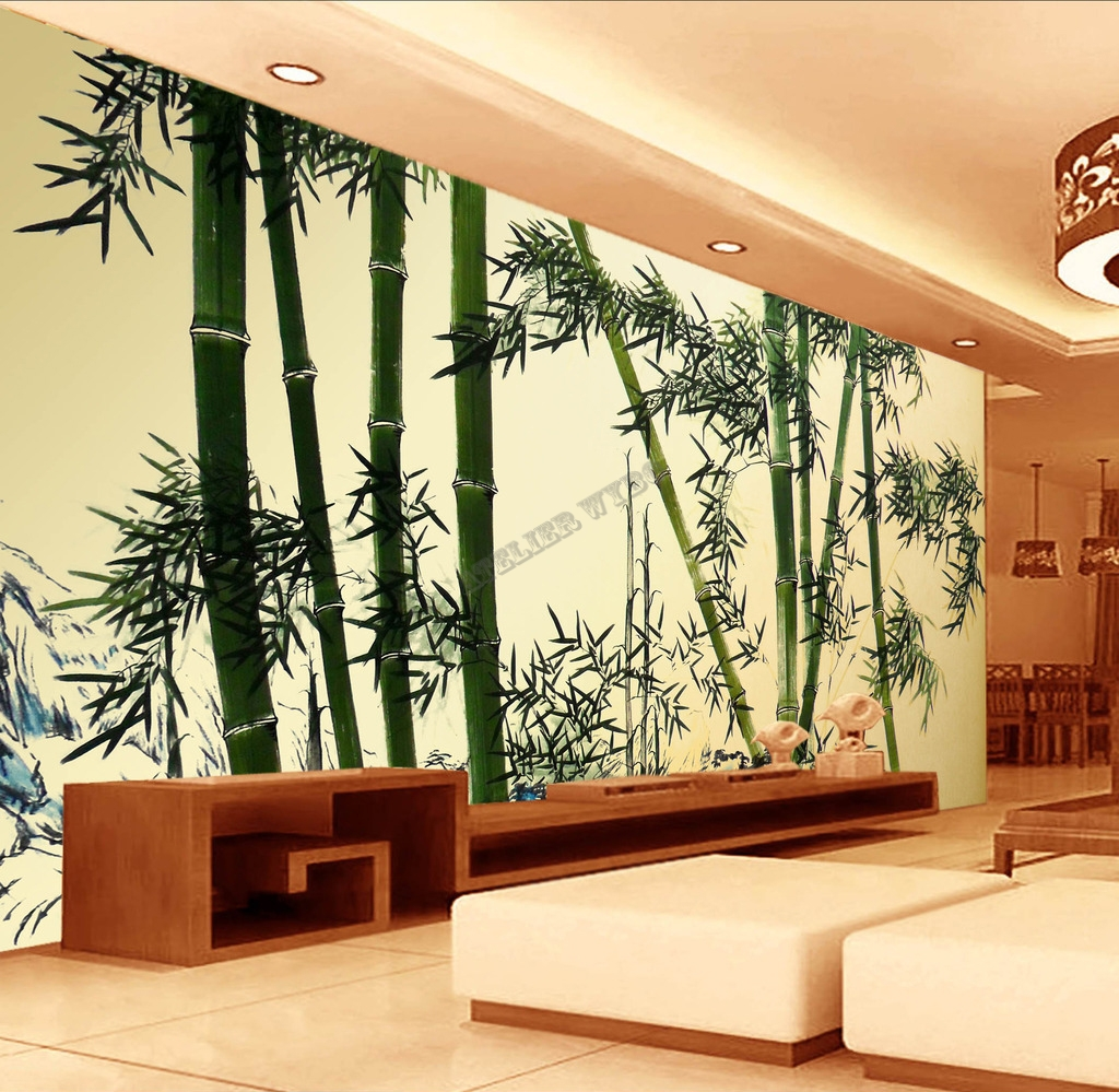 papier peint chinois chinese wallpaper bambou 1. Black Bedroom Furniture Sets. Home Design Ideas