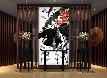 Papier peint chinois chinese wallpaper zen lotus rouge poisson chinois - Papier peint poisson rouge ...