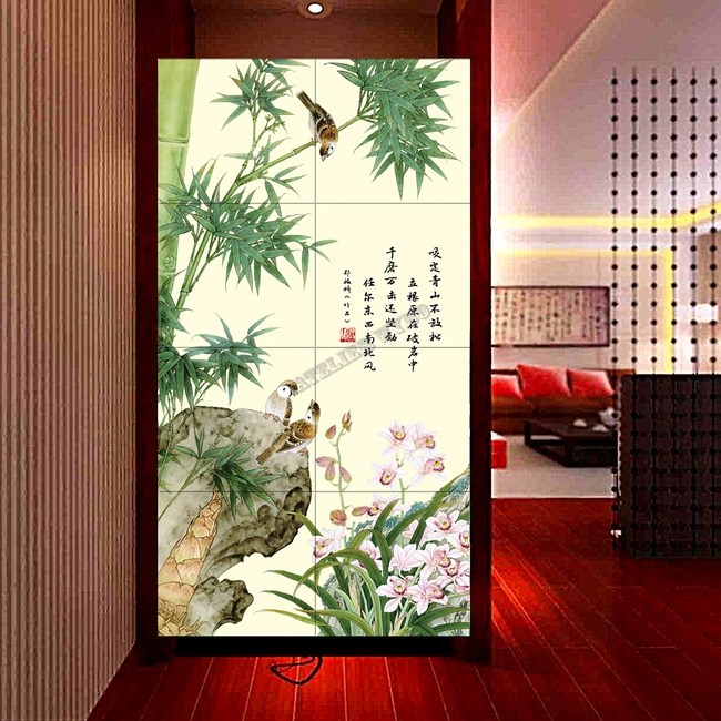 orchidée,bambou,oiseau,papier peint orchidée,tapisserie orchidée,poster orchidée,papier peint bambou,tapisserie bambou,poster bambou,papierp peint oiseau,tapisserie oiseau,poster oiseau,papier peint zen,tapisserie zen,poster zen,peinture asiatique,peinture à l'encre de chine,papier peint d'artiste,décoration asiatique