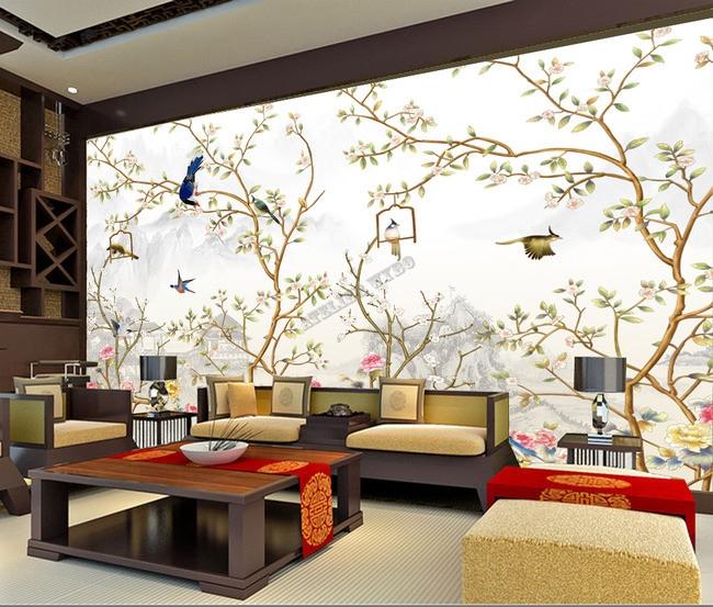 peinture a l39encre de chine papier peint asiatique With chambre bébé design avec livraison fleurs valenciennes