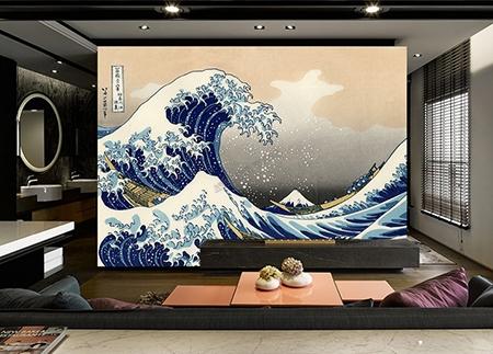 ukiyo-e,peinture jponaise les vagues,vague,papier peint japonais vague,tapisserie murale japonaise,poster japonais vague,décor japonais les vagues,papier peint intissé vague,papier peint vinyle vague,papier peint vinyle auto-adhésif,papier peint textile un seul tenant,tapisserie soie un seul morceau