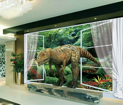 d coration murale tapisserie num rique papier peint 3d poste g ant mural dinosaure papier. Black Bedroom Furniture Sets. Home Design Ideas
