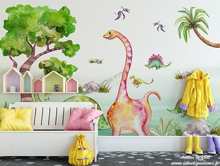dinosaure,achat papier peint dinosaure,prix papier peint intissé dinosaure,tarif tapisserie dinosaure,papier peint dinosaure atelier wybo,papier peint enfant,papier peint chambre bébé,sticker mural dinosaure chambre bébé,sticker dinosaure chambre enfant,sticker salle de bain dinosaure,poster géant dinosaure,tête de lit dinosaure,décoration murale dinosaure
