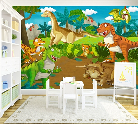 papier peint enfant poster g ant dinosaure papier peint sol 3d. Black Bedroom Furniture Sets. Home Design Ideas