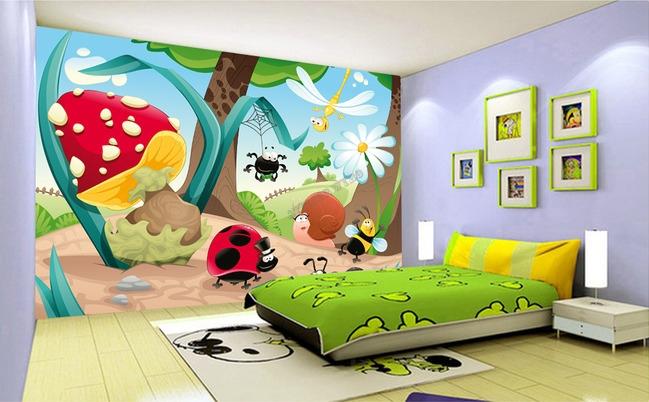 Papier peint personnalis tapisserie num rique paysage enfant dr les les peti - Papier peint pour enfant ...