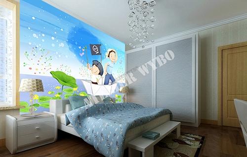 dessin d'artiste graphiste,enfant,garçon,bateau,pirate,papa,eau,bleu,lotus