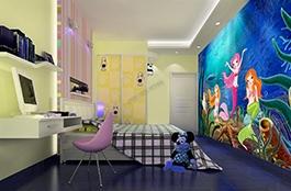 papier peint princesse, papier peint enfant, papier peint personnalisé, papier peint fond marin, poster géant, poster fondmarin, poster princesse