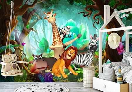 lion,girafe,zèbre,éléphant,hippopotame,chambre enfant,poster animaux,papier peint animaux,papier peint intissé,papier peint,papier peint enfant,tapisserie forêt animaux,poster forêt animaux,sticker animaux forêt,tête de lit animaux,papier peint chambre enfant,papier peint lion,poster girafe,sticker éléphant,poster zèbre,poster hippopotame