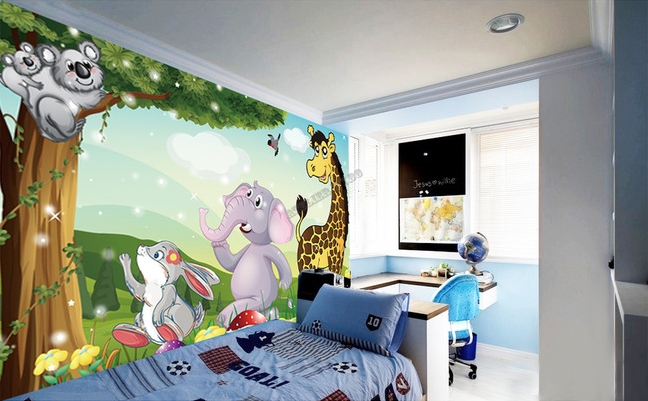 d coration murale papier peint personnalis tapisserie num rique paysage pour b b enfant les. Black Bedroom Furniture Sets. Home Design Ideas