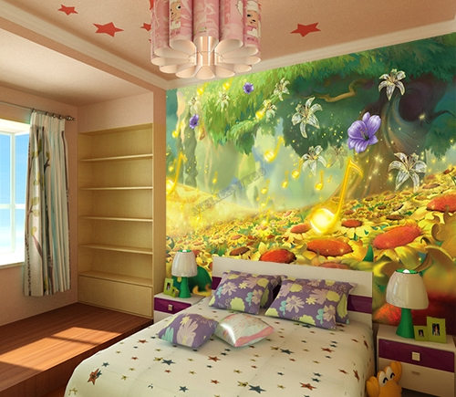 wallpaper children giant poster papier peint paysage f erique chambre enfant dans le champ de. Black Bedroom Furniture Sets. Home Design Ideas
