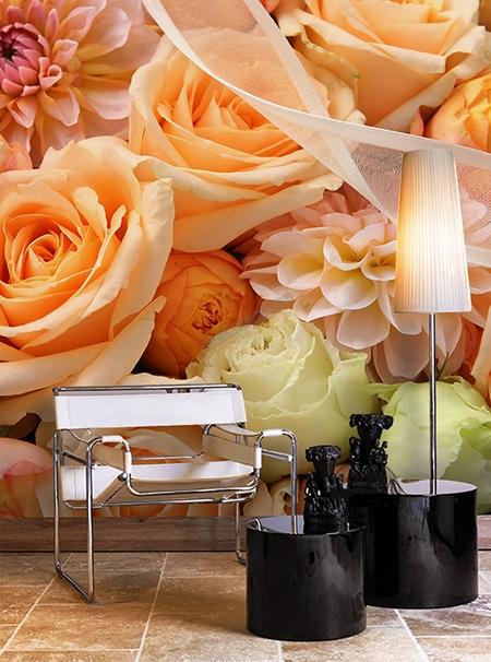 fleur,fleur orange,rose,rose orange,papier peint fleur,papier peint rose,papier peint floral,tapisserie rose,tapisserie fleur orange,sticker fleur,poster géant fleur,tête de lit fleur,tête de lit rose,décoration florale,décoration murale fleur,décor romantique