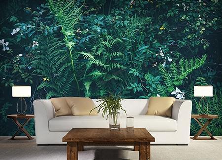 Papier Peint Personnalise Mur Vegetal Tapisserie Murale Panoramique