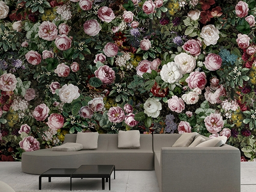 papier peint floral tapisserie pivoine sticker mural rose papier peint sol 3d. Black Bedroom Furniture Sets. Home Design Ideas