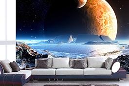 papier peint fantaisie, planet, papier peint personnalisé, jeu vidéo,poster fantaisie,tapisserie photo,tapisserie numérique,papier peint photo,univer,papier peint sur mesure