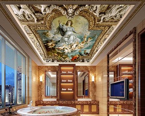 décor plafond salon,décor plafond salle de bain,décor plafond toilettes,fresque plafond,fresque mural,plafond peint à la main,scène peinte sur plafond,papier peint fresque plafond,ceiling fresco,plafond tendu fresque,plafond tendu,papier peint plafond,plafond tendu sur mesure,décoration plafond papier peint,plafond tendu imprimé