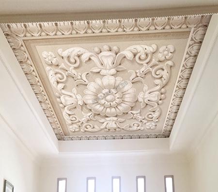 Decoration Plafond En Platre En Bas Relief Filme Pvc Translicide Sur