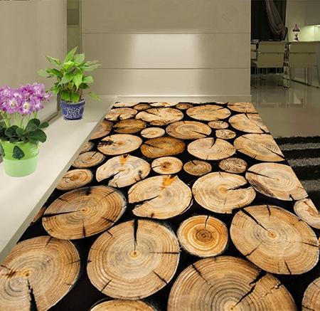 rondin de bois,sol en bois,revêtement de sol pvc souple,revêtement de sol vinyle auto-adhésif,revêtement de sol 3d,lino 3d,sol 3d résine,sol 3d époxy,sol trompe l'oeil,sol 3d couloir,plancher 3d,revêtement de sol personnalisé