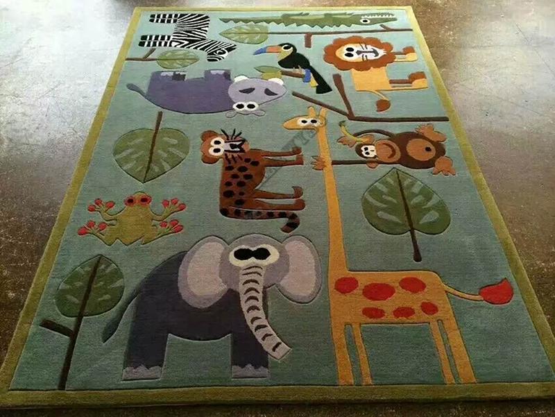 acheter tapis en laine chambre enfant animaux rigolos,tapis artisanal tufté à la main pour enfant velour en bas relief lion éléphant girafe guépard singe toucan hippopotame,tapis luxe pur laine vierge fait main personnalisé velours sculpté en relief animaux jungle savane