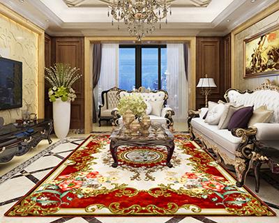tapis rouge,tapis fleur personnalisé,tapis doré fleur feuillage salon chambre,tapis floral symétrique fond beige rouge feuille dorée,tapis moderne séjour lys blanc hibiscus fleur haune fond rouge,tapis de luxe en laine vierge fait à la main sur mesure fleur de printemps motif symétrique