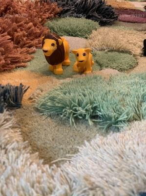 tapis 3d insolite velours épais paysage naturel en relief réalisation Atelier WYBO article de luxe confection sur mesure pièce unique à la demande,tapis 3d paysage salle de jeu pour enfant pelouse verte arbre en relief