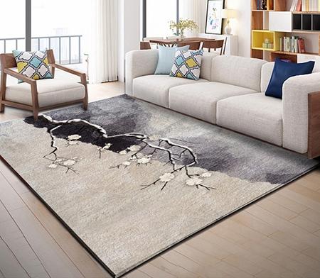 décor zen,tapis laine fleur,tapis laine zen,tapis laine fait main,tapis laine artisanal,tapis sol fleur,tapis fleur japonaise,tapis sol cerisier,tapis zen,tapis beige,tapis gris,tapis laine sur mesure,tapis asiatique