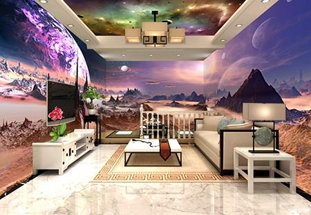 planète,univers,extraterrestre,science-fiction,scène science-fiction,papier peint personnalisé,papier peint panoramique,astronaute,tapisserie fantaisie,papier peint fantaisie,paysage violet,décor plafond-mur,plafond tendu univers
