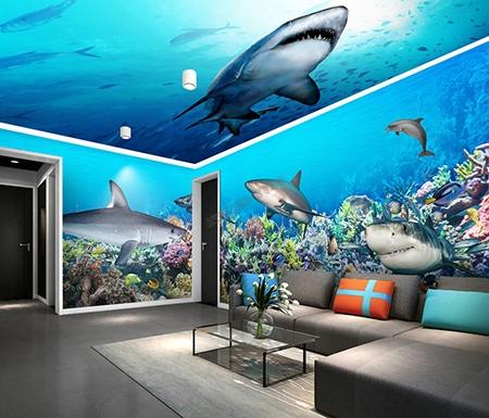 décor plafond,plafond tendu,plafond tendu imprimé,plafond requin,requin,décor fond marin,paysage fond marin,décor plafond fond marin,papier peint requin,papier peint fond matin,poster fond marin,sticker requin,sticker fond marin