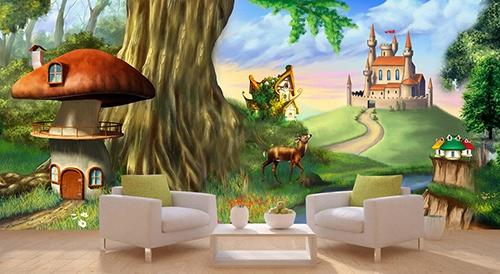 papier peint photo personnalisé chambre enfant paysage panoramique ...